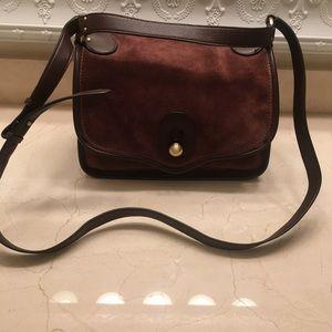 NWOT N Lepore suede satchel shoulder crossbody bag
